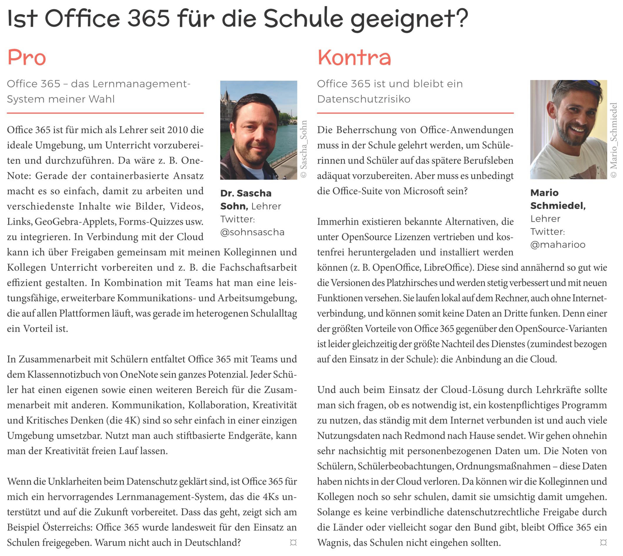 Ist Office 365 für die Schule geeignet?